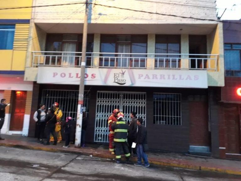 Un amago de incendio se registró en pollería de la Plaza de Armas
