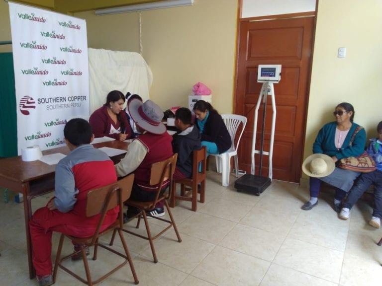 Realizan campaña médica para niños de Punta de Bombón