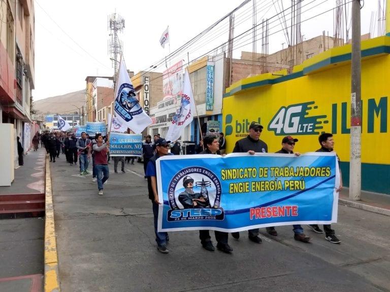 Trabajadores de ENGIE realizaron marcha
