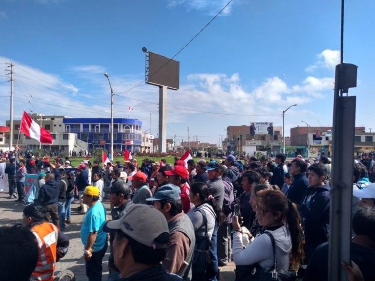Moquegua e Ilo protagonizaron masiva protesta rechazando corrupción en el sistema judicial peruano