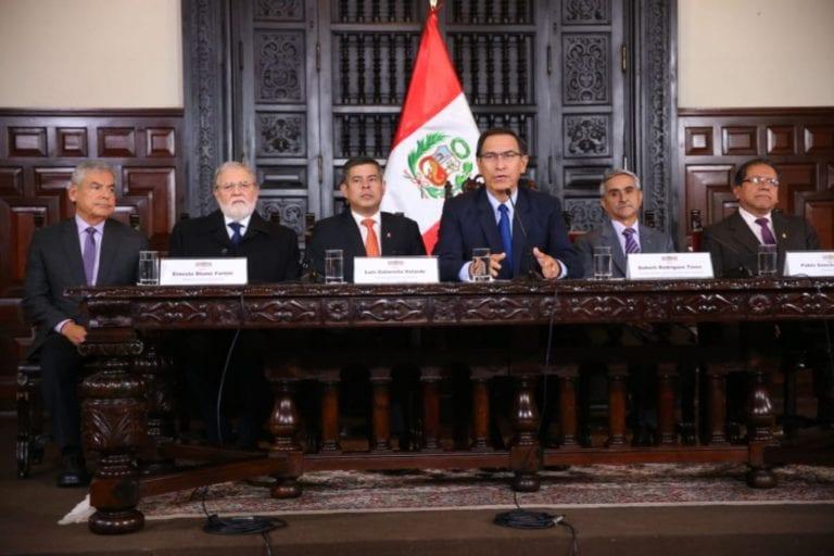 Presidente Martín Vizcarra pide al Congreso aplicar el artículo de la Constitución que permite remover a miembros del CNM