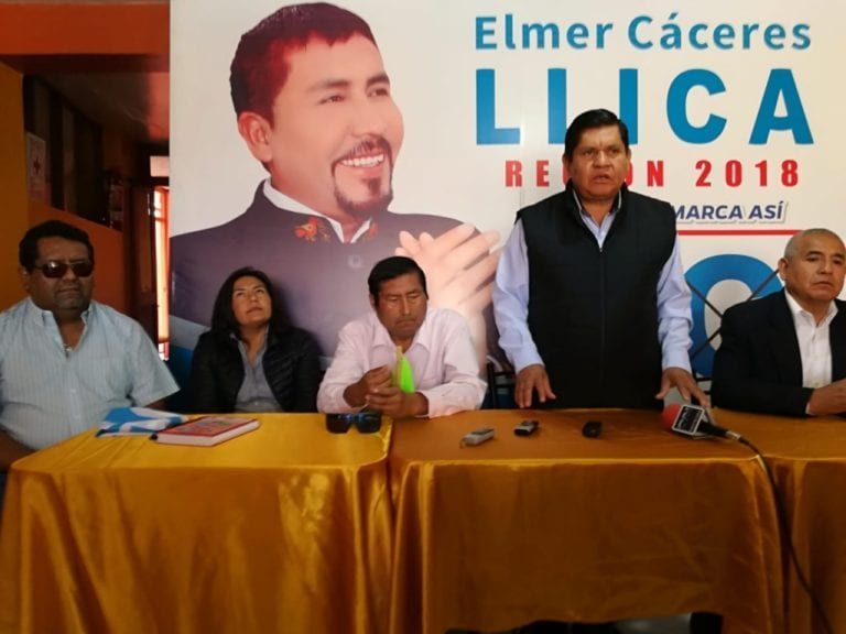 Anuncian inicio de campaña electoral de Elmer Cáceres a la segunda vuelta