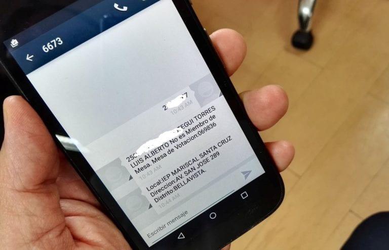 Electores conocerán sus locales de votación desde sus celulares