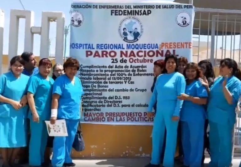 Enfermeras del MINSA acataron paro de 24 horas