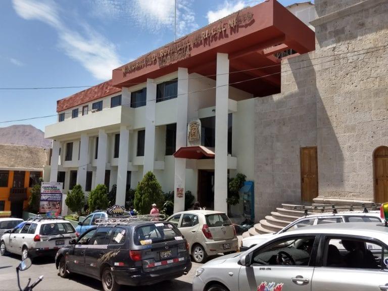 Trabajadores administrativos de la MPMN realizaron plantón