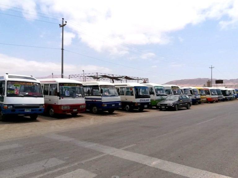 Transportistas de Ilo paralizan exigiendo se les entregue la tarjeta de circulación