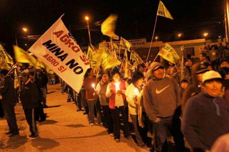 Hoy tambeños se movilizan contra proyecto Tía María