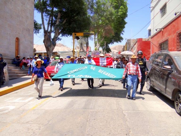 Fracasó convocatoria de paro en Moquegua y marcha no fue contundente