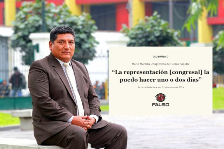 Afirmación del congresista Mario Mantilla sobre jornada de representación es falsa