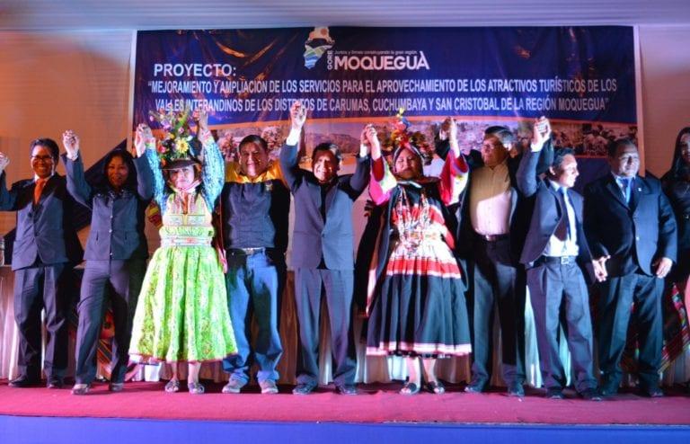 Gobernador Regional lanzó oficialmente Proyecto Turístico del Ticsani