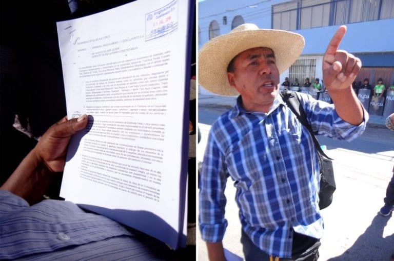 Quellaveco: comuneros de Pocata, Coscore y Tala denuncian contaminación de pastizales y agua