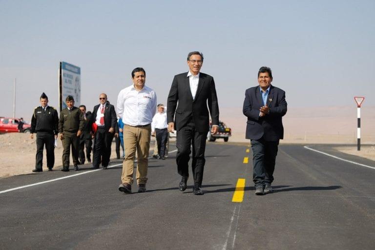MTC inauguró vía Los Palos-Santa Rosa, que impulsará la agricultura, productividad y el turismo en Tacna