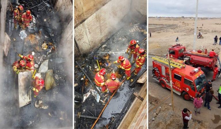 Pampa Inalámbrica: Interior de vivienda se incendia al parecer por un corto circuito