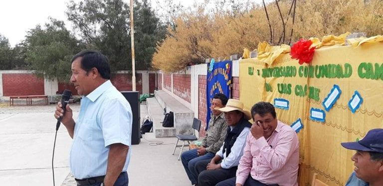 Comunidad de Huasacache celebró 71° aniversario