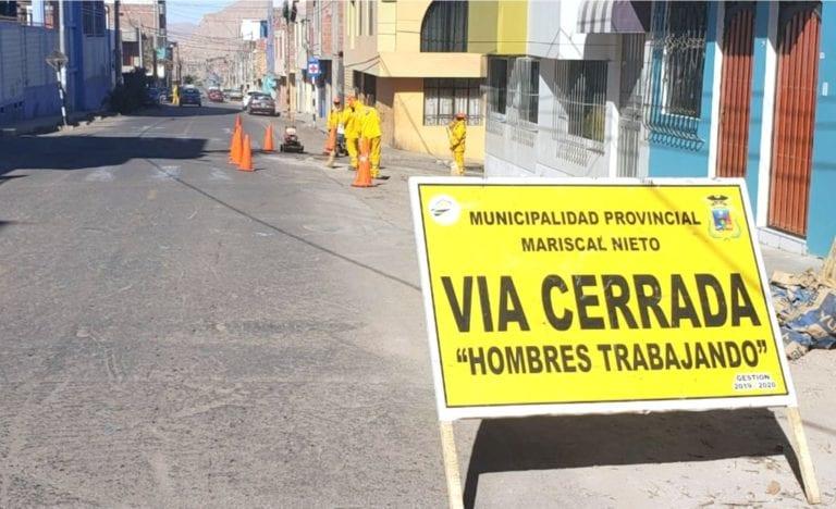 Disponen cierre de vías en horario nocturno en avenida La Paz