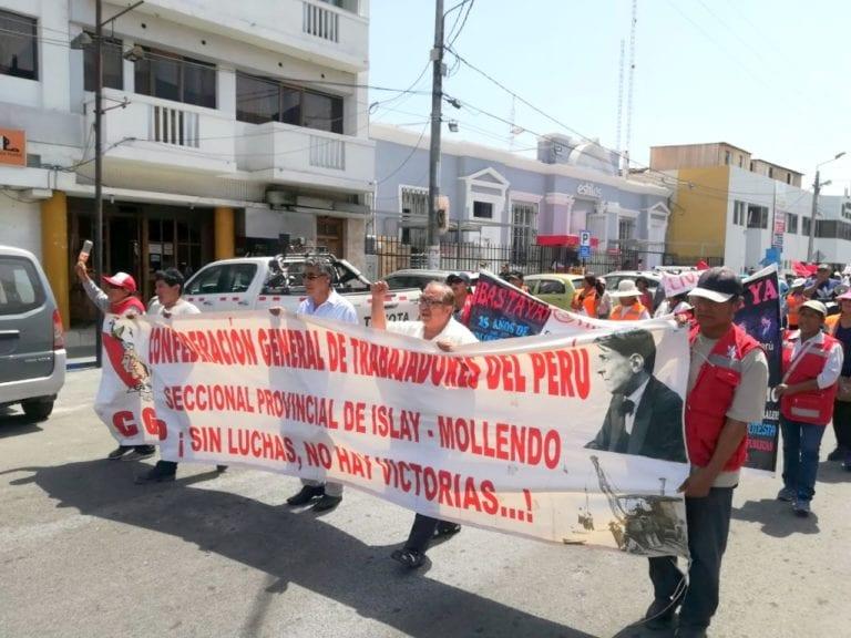 AUPI, CGTP y Sutep Islay respaldan rechazo de la población de Matarani a planta de Cementos Bío Bío