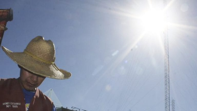 Radiación UV llega a un nivel extremadamente alto en el país