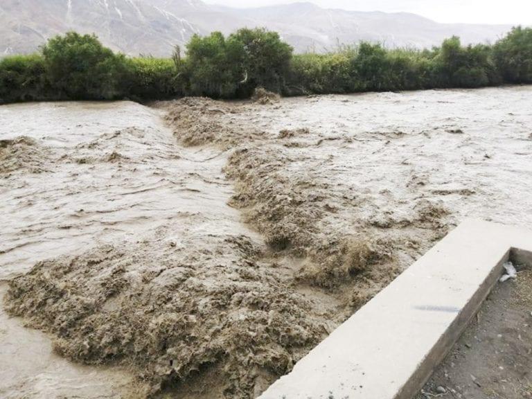 Reportan incremento del caudal del río Tambo a 320 m3/s