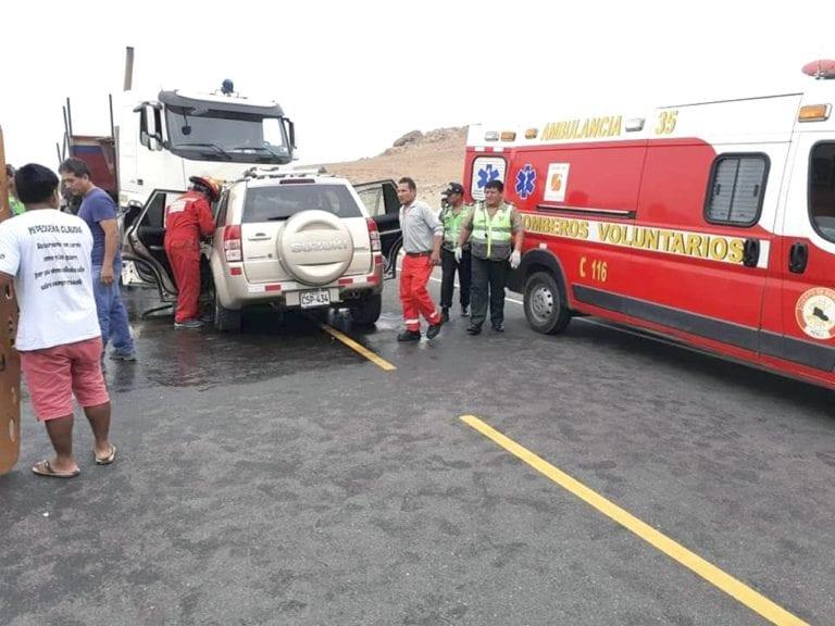 Dos muertos en choque frontal a la altura de la Caleta Centeno