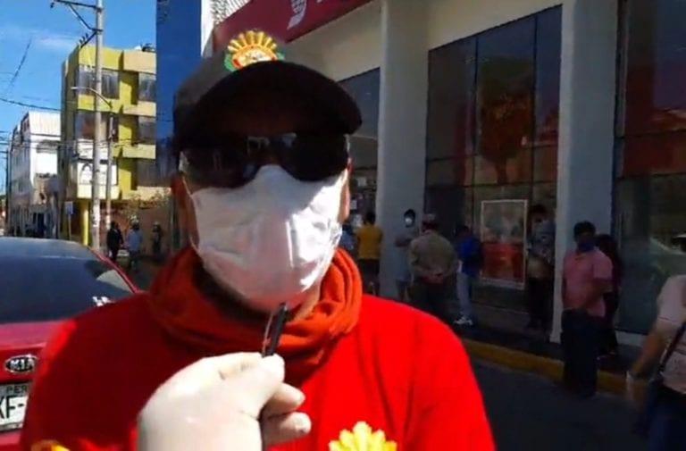 Bomberos realizan trabajo de desinfección en calles y diferentes sectores de Ilo