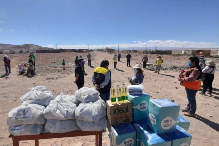 Alcalde provincial entregó apoyo a familias de Querapi