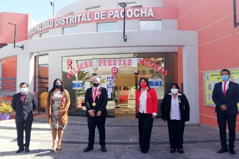Municipios de Ilo, Pacocha, El Algarrobal realizaron actos cívicos por Fiestas Patrias