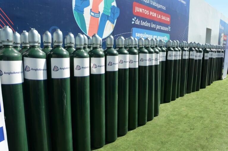Anglo American Quellaveco dona 200 balones de oxígeno