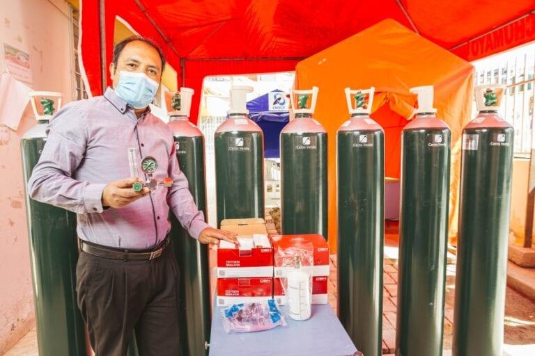 Cerro Verde entregará balones de oxígeno en el distrito de Islay-Matarani