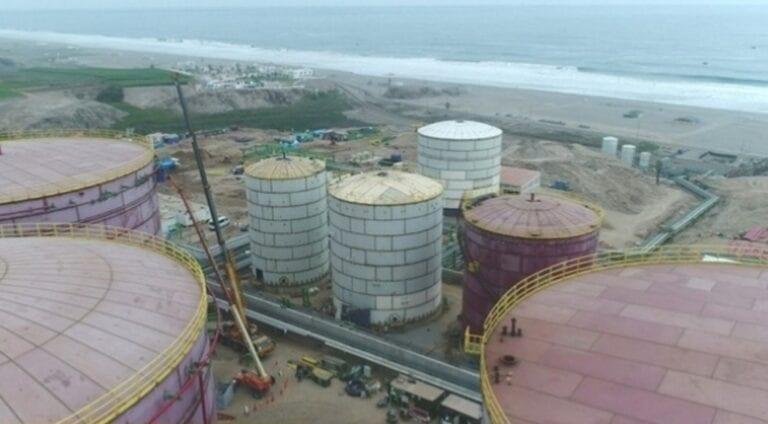 Nuevo terminal de combustibles al 85 % de avance en su construcción