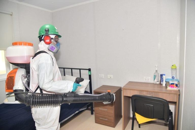 Culmina acondicionamiento y desinfección en campamentos del Proyecto Quellaveco