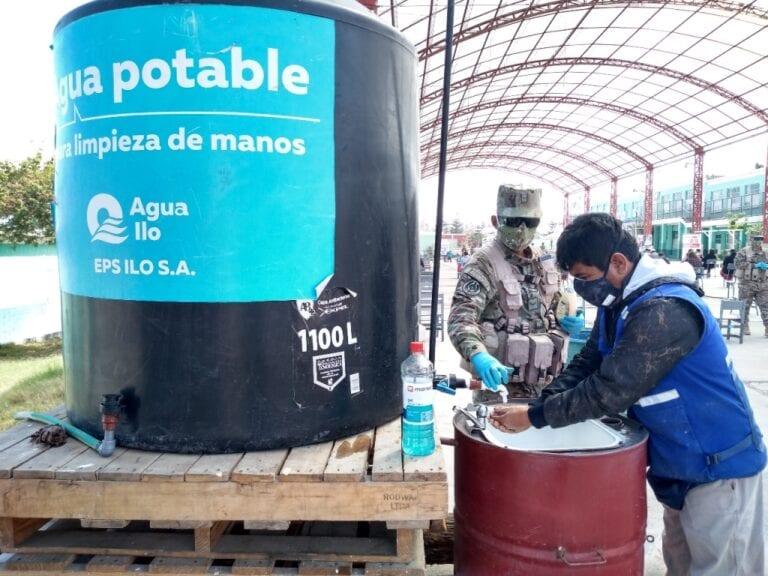 EPS Ilo instaló seis lavamanos en el marco de Operación Tayta II