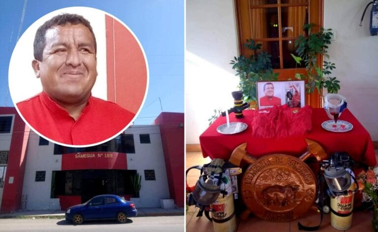 Abnegado bombero Efraín Tejada Hurtado fallece víctima de coronavirus