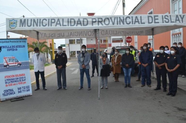 Tía María se suma a iniciativa de Patrulla de Auxilio Covid-19 de la Municipalidad Provincial de Islay