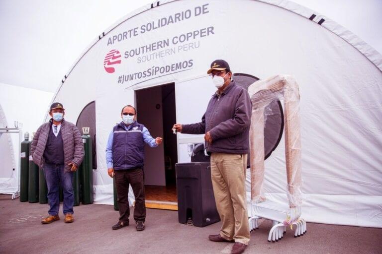 Southern Peru entregó tres módulos hospitalarios en Ilo con camas y balones de oxígeno