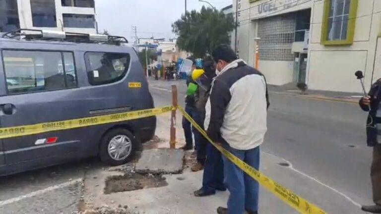 EPS Ilo deja trabajos incompletos en vía de la Plaza de Armas