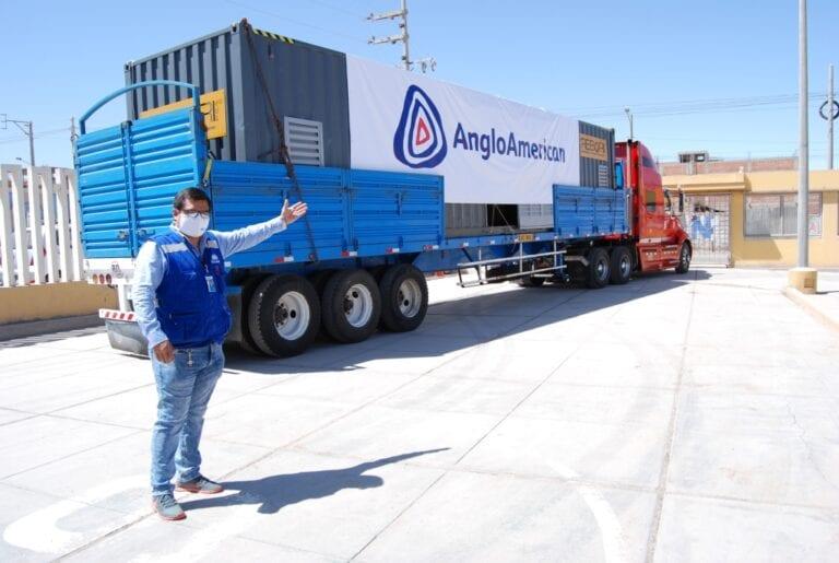Planta de oxígeno donada por Anglo American llegó a Moquegua