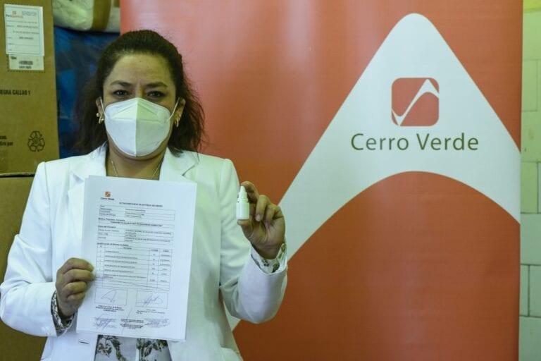 Cerro Verde dona equipos e insumos para producción de ivermectina