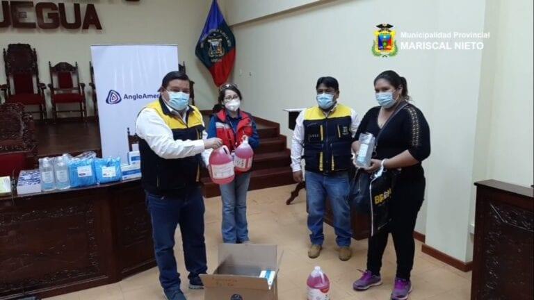 Entregan kit de limpieza y bioseguridad a comedores populares y comités del vaso de leche