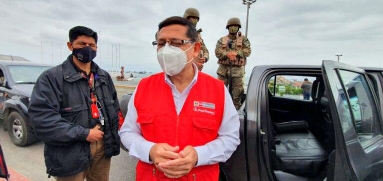 Viceministro de Defensa verificó capacidad de respuesta contra la pandemia en Ilo