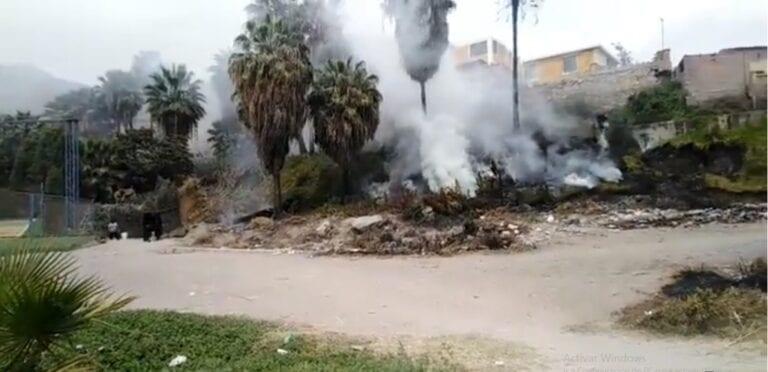 Registran incendio forestal en Chucarapi