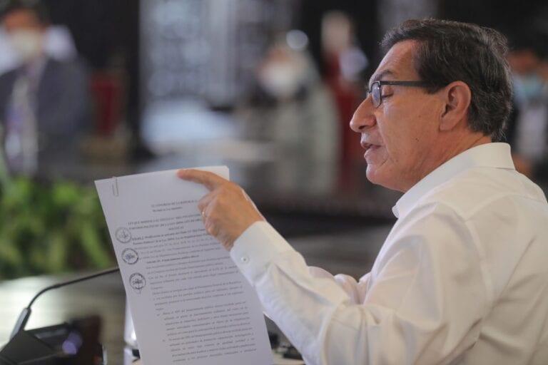 Presidente Martín Vizcarra promulga ley de financiamiento de partidos políticos