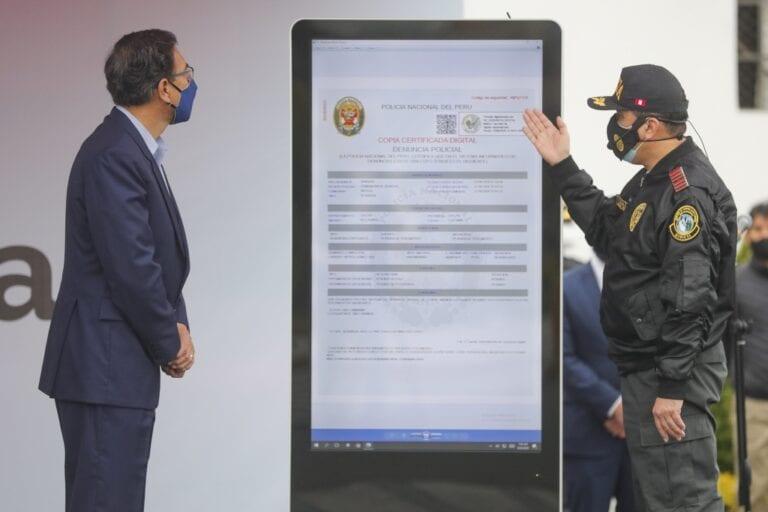 Policía Nacional activó servicio de denuncia digital por pérdida o hurto de documentos