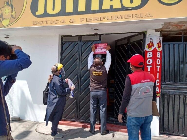 Arequipa: Cierran tres boticas que trabajaban en pésimas condiciones