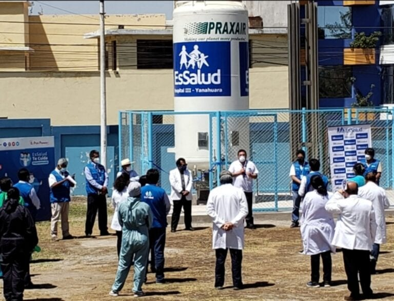 Arequipa: Ponen en funcionamiento isotanque de oxígeno para tratamiento de pacientes Covid 19