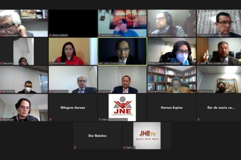 JNE, Onpe y Reniec proponen que elecciones internas sean entre el 19 y 27 de diciembre