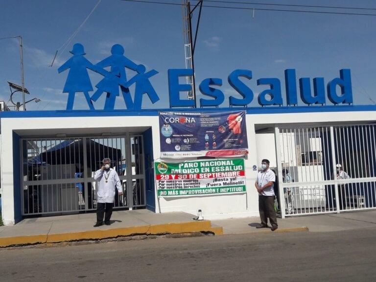Personal médico de EsSalud se suma a paro a nivel nacional