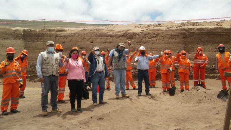 Avances de trabajo en el proyecto rescate arqueológico Lomas de Ilo