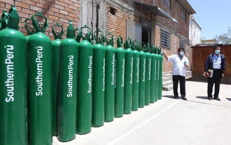 Southern dona 50 balones de oxígeno a la Gerencia Regional de Salud de Arequipa