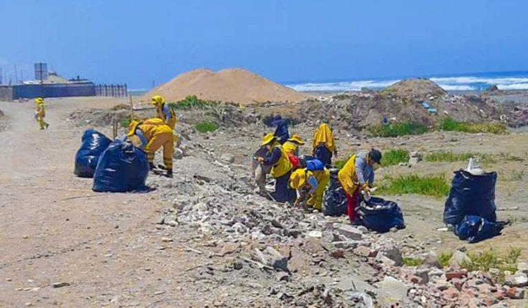 Continúa campaña de limpieza de residuos sólidos