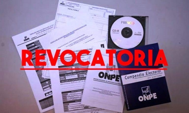 ONPE declara procedente entrega de kit electoral para revocatoria de alcalde Abraham Cárdenas